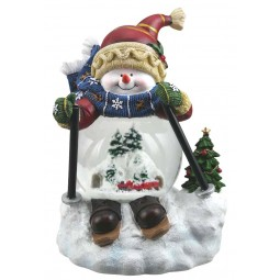"Snow globe ""skiing Snow man"""