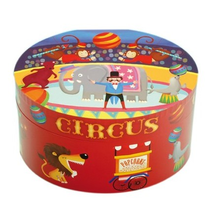 Decorative jewelry box circus