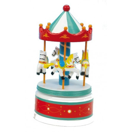 Wooden carousel red / white 210 mm
