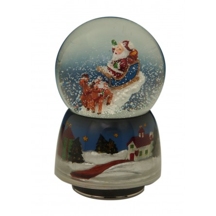 Snow globe santa II 80 mm